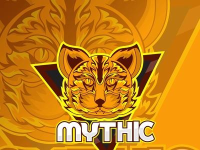 Mythic Cat Esport Mascot Logo cat logo esport
