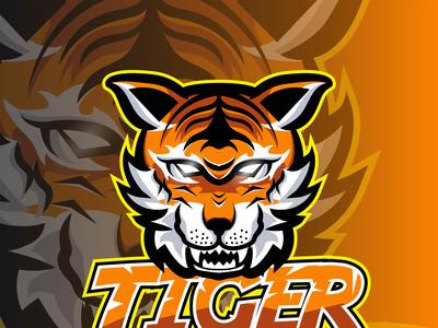 Tiger Mascot for logo esport vector illustration logo esport