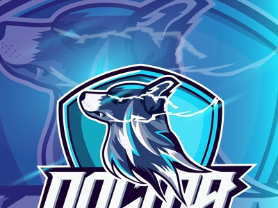 Esport Logo Dog Mascot with text Dogma design vector illustration esport
