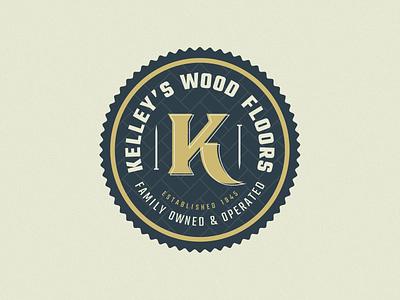 Kelley's Wood Floors illustration patch design badge texas logo