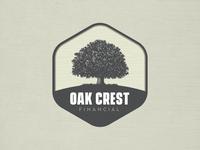 Oak Crest Financial Logo Concept tree finance patch badge illustration logo oak