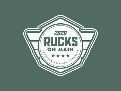 Rucks on Main Logo Mark stars navy army race marathon patch badge logo