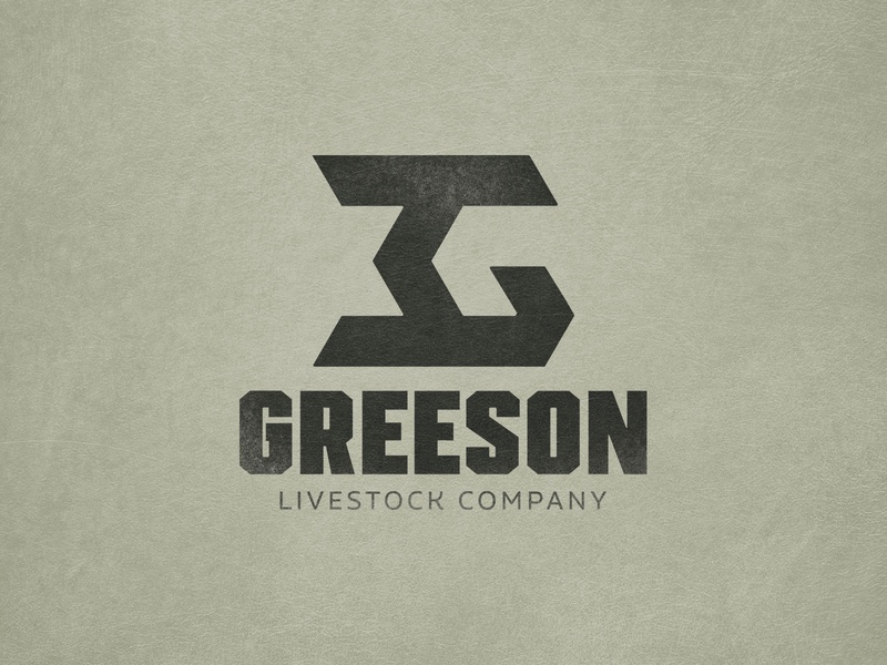 Greeson Livestock Company Concept branding texas livestock ranch cattle brand vector logo