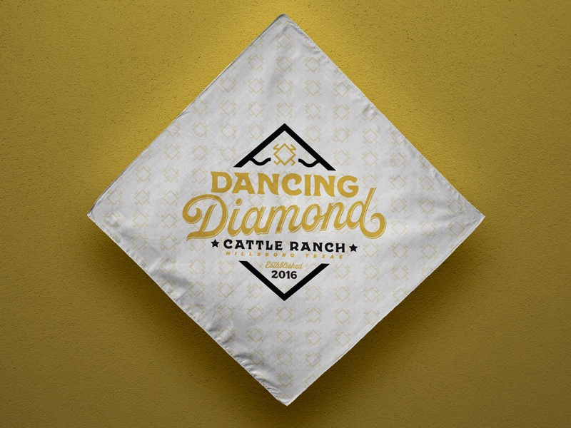 Dancing Diamond Ranch Logo Concept texas brand cattle illustration logo ranch diamond dancer