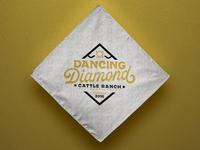 Dancing Diamond Ranch Logo Concept texas brand cattle illustration logo ranch diamond dancer