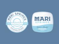 Mari Springs Logo Concept branding texas springs resort water patch badge illustration logo