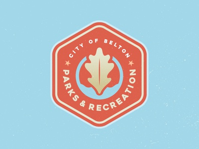Belton Parks & Recreation Logo Concept city leaf oak water parks and recreation patch badge branding logo