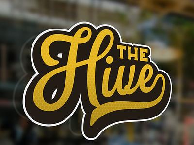 The Hive Logo Concept collaboration officespace signage illustration design logo hive