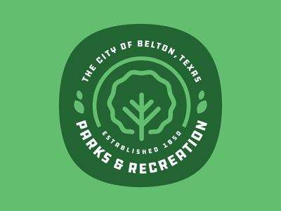 City of Belton Parks & Recreation parks and recreation brand design branding city belton patch illustration badge texas logo