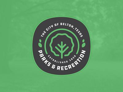 City of Belton Parks & Recreation II brand parks and recreation city design branding belton patch illustration badge texas logo