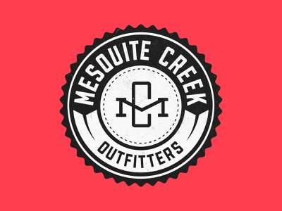 Mesquite Creek Outfitters Badge mesquite design branding patch illustration badge texas logo