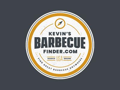 Kevin's BBQ Finder barbecue brand design branding bbq patch illustration badge logo