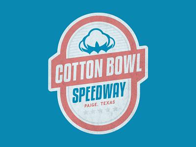 Cotton Bowl Speedway Logo (Concept) racing short trac speedway racetrack design branding patch illustration badge texas logo