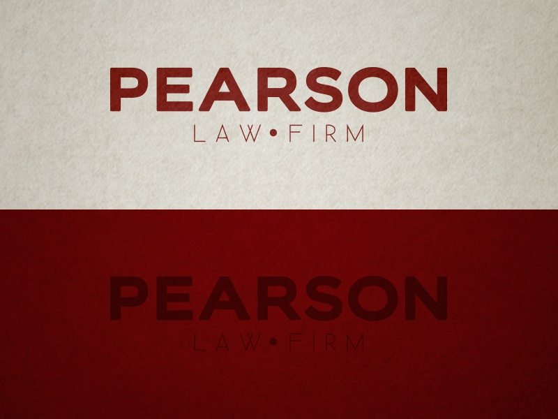 Pearson Law Firm Logo Concept attorney lawyer logo