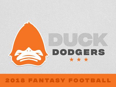 Duck Dodgers Fantasy Football logo league brand football fantasy duck