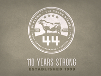 110 Years Strong Badge