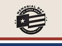 Memorial Day Sale Badge