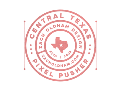 Central Texas Pixel Pusher Mark II pixel patch badge design illustration texas logo