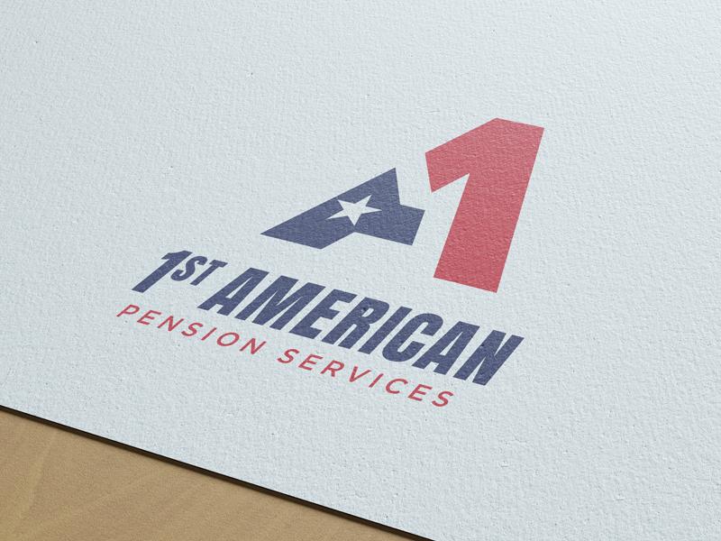1st American Pension Services Logo Concept texas star america usa a logo