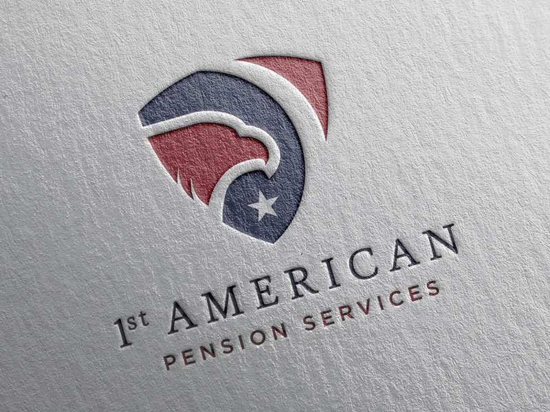 1st American Pension Services Logo Concept - Mark II usa texas star logo america