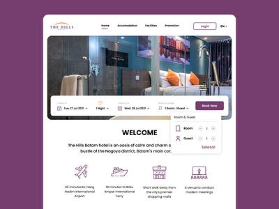 The Hills Hotel Website Redesign graphic design figma branding minimal uidesign indonesia ux uiux ui design