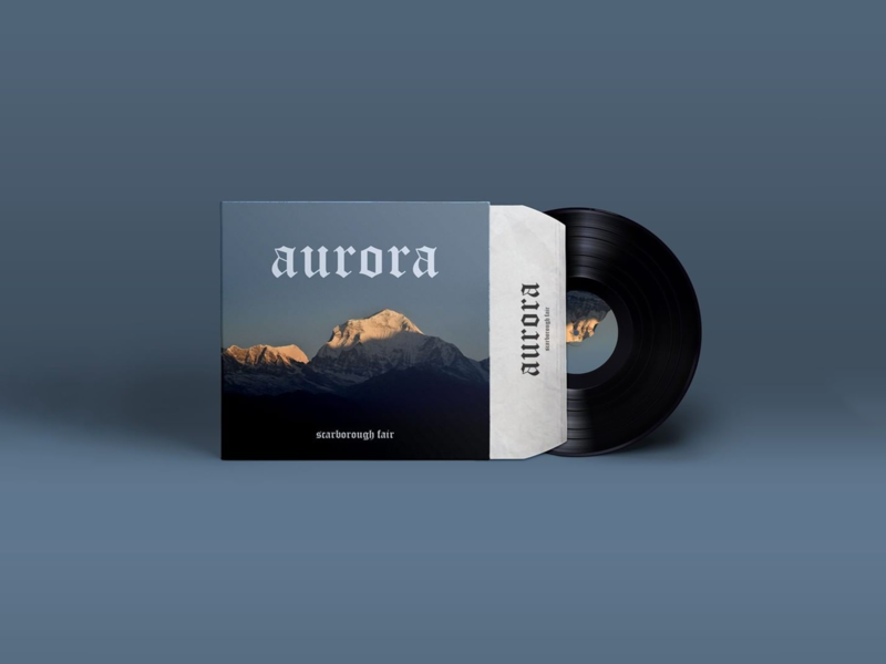 Scarborough Fair aurora lp cover deisgn cover vinil cd graphic design brazil henriqdesigner design