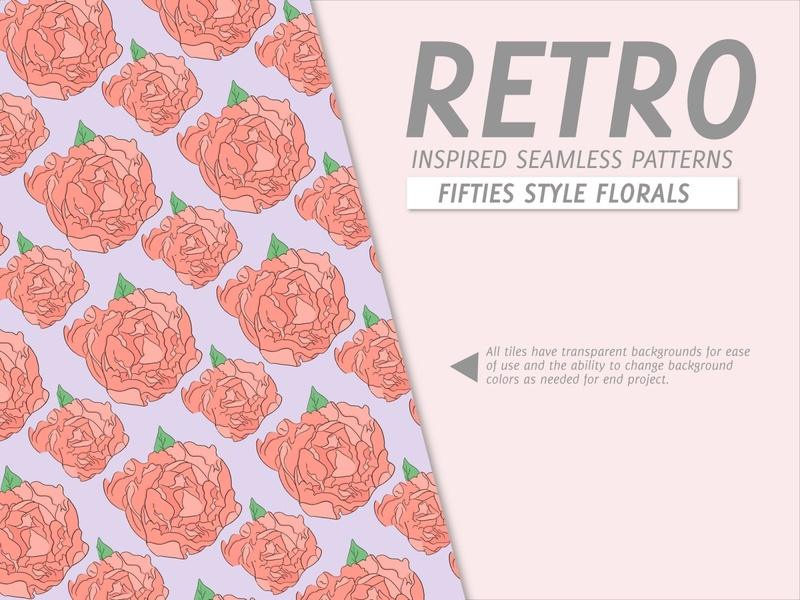 Retro 1950s Inspired Surface Pattern Designs textile design surface pattern design illustration graphic design product design design