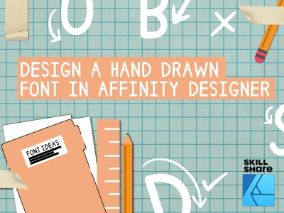 Design a Hand Drawn Font in Affinity Designer and Glyphs Mini hand drawn fonts fonts graphic design design
