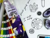 Minimalist Alchemy Die Cut Sticker Pack