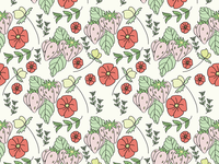 Illustrated Florals Repeat Pattern