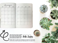 Simple Minimalist Monthly 2-UP for Creative Market