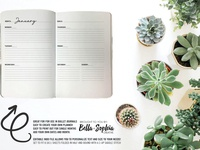 Simple Minimalist Weekly Spread 2-UP for Creative Market