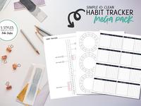 Habit Tracker Mega Pack
