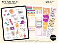 New Year Brights Digital Sticker Pack for Goodnotes