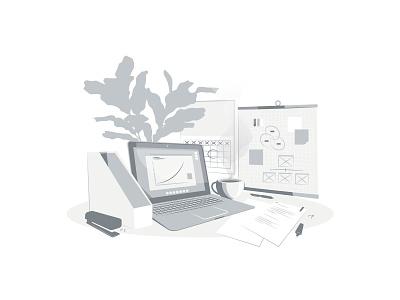 Strategy - Monochrome monochrome strategy minimalism branding illustrator graphic graphic design illustration