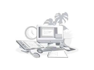 Design - Monochrome monochrome minimalism branding illustrator graphic graphic design illustration