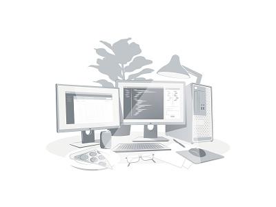 Development - Monochrome monochrome minimalism branding illustrator graphic graphic design illustration