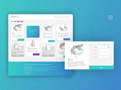 Boxie branding web design minimalism ui design ui