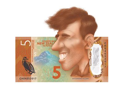 Sir Edmund Hillary character art new zealand sir edmund hillary graphic design kiwiana photoshop illustration caricature