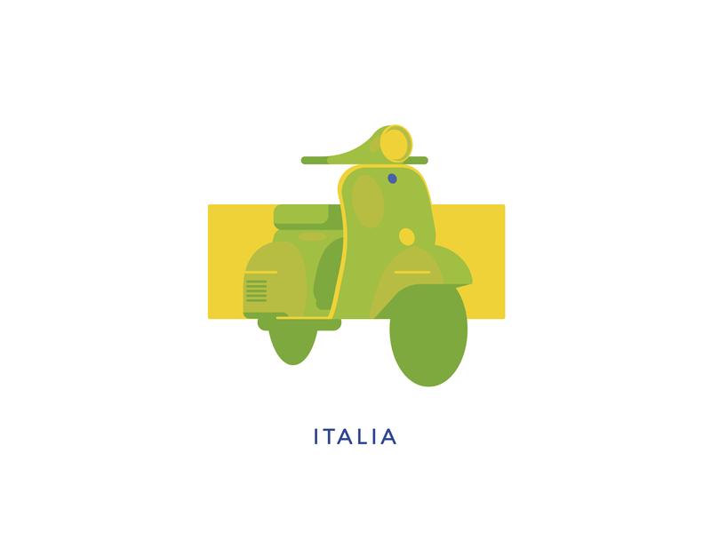 Touring - Italy italy flat  design vector design logo graphic icon illustrator graphic design illustration