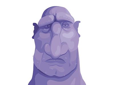 Ol' Mate - Feeling Purple character branding flat  design vector logo illustrator icon caricature graphic graphic design illustration
