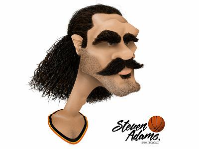 Steven Adams nba okc new zealand steven adams character photoshop kiwiana illustrator graphic caricature graphic design illustration