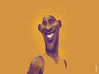 Kobe Bryant la black mamba kobe bryant graphic design nba basketball lakers mambaout kobe photoshop caricature illustration