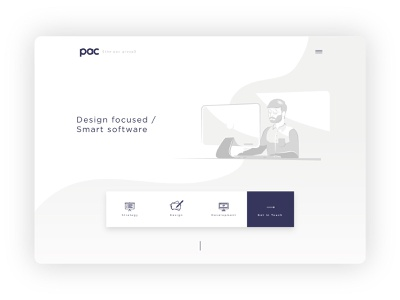 The Pac Group - Home page Light ui website concept minimalism illustration above the fold icon graphic homepage neomorphism web desgin minimal