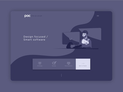 The Pac Group - Home page Dark flat  design illustrator dark theme web design icon branding ui graphic design illustration