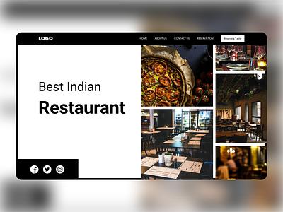 Restaurant landing page (Banner) landing page ui