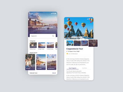 Travel App app ui ui design