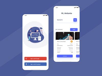 Stock Market App UI ui