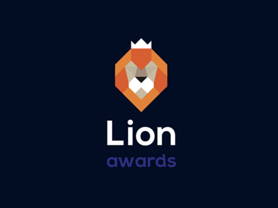 Lion awards logo proposal geometric geometic illustration graphic design design corporate branding logotype logodesign