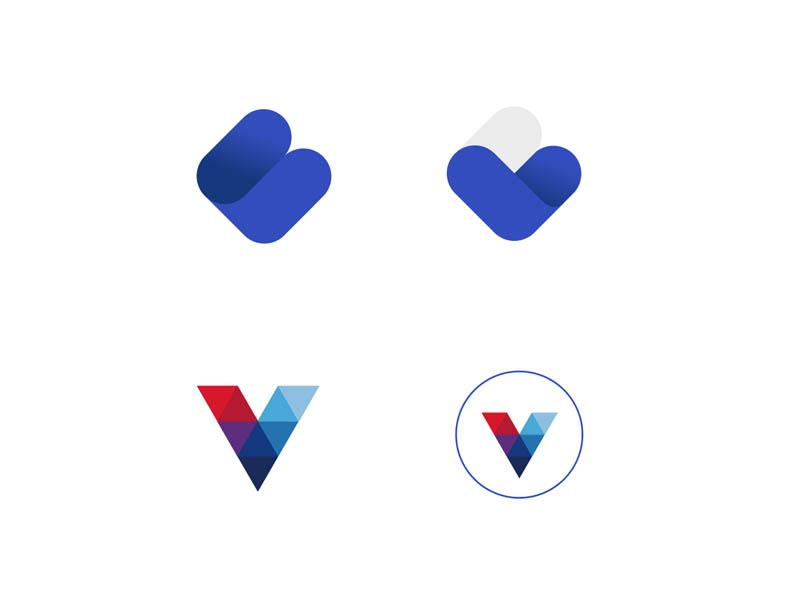 VB and V logo mark brandmark logo design branding logo design corporate identity logodesigner mark logodesign logo